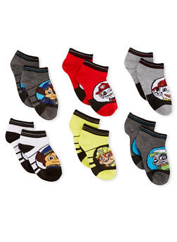 Boys 4-6 Paw Patrol Set of 6 Ankle Socks - 6565059220150