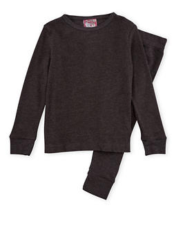 Girls 4-6x Thermal Top and Pants Set - 6566054730003