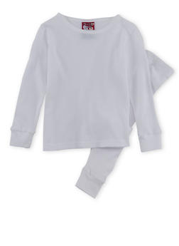 Girls 4-6x Thermal Top and Pants Set - WHITE - 6566054730003