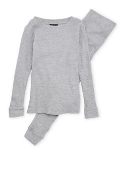 Boys 4-7 Thermal Top and Pants Set - HEATHER - 6566054730012
