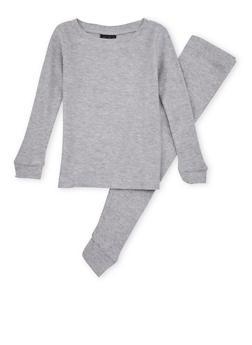 Boys 4-7 Thermal Top and Pants Set - GRAY - 6566054730012