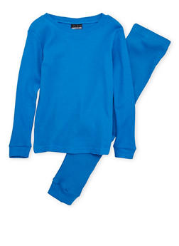 Boys 4-7 Thermal Top and Pants Set - RYL BLUE - 6566054730012