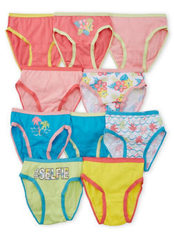 Toddler Girls 10 Pack of Floral Panties - 6567054730005