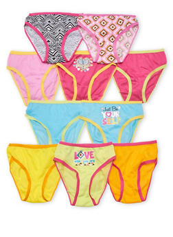 Toddler Girls Pack of 10 Aztec Panties - 6567054730007