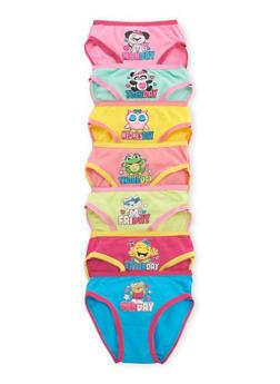 Toddler Girls Days of the Week Panties 7-Pack - 6567054730010