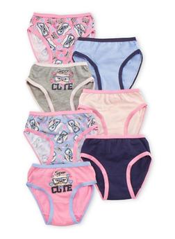Toddler Girls 7 Pack of Underwear - 6567054730012
