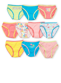 Girls 4-6X Pack of 10 Assorted Panties - 6567054730107