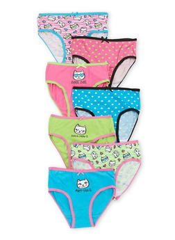 Girls 4-6X Set of 7 Cat Panties - 6568035160062
