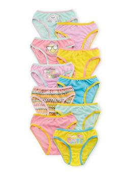 Girls 4-14 10-Pack Bikini Panties - 6568054730102
