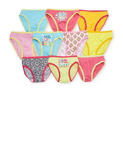 Girls 4-14 10 Pack of Assorted Panties - 6568054730105