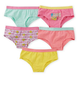 Girls 4-16 Pack of 5 Assorted Panties - 6568054730130