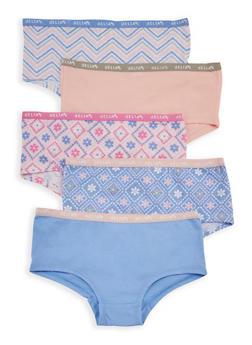 Girls 7-16 Set of 5 Cotton Panties - 6568054730145