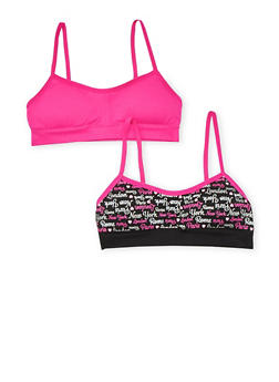 Girls 4-16 Set of 2 Padded City Print Cami Bras - 6568054730207