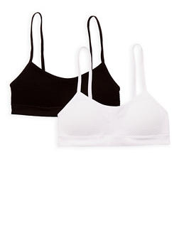 Girls 4-16 Pack of 2 Assorted Cami Bras - 6568054730211