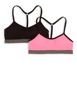 Girls 4-16 Cami Bra 2 Pack - 6568054730212