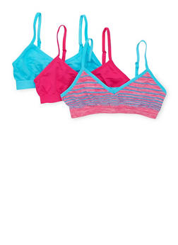 Girls 4-16 Set of 3 Cami Bras - 6568054730220
