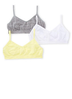 Girls 4-16 3 Pack of Space Dye Cami Bras - GRAY - 6568054730221