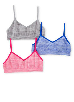 Girls 4-16 3 Pack of Space Dye Cami Bras - PINK - 6568054730221