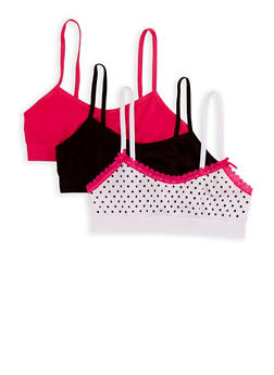 Girls 4-16 Set of 3 Cami Bras - 6568054730224