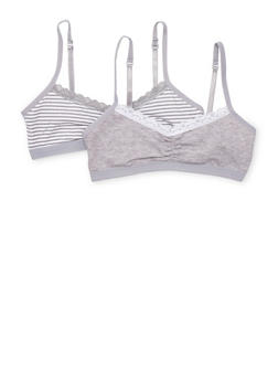 Girls 4-16 Two Pack of Cami Bras - 6568054730252