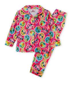 Girls 4-6x Printed Pajama Shirt and Pants Set - 6568054730300