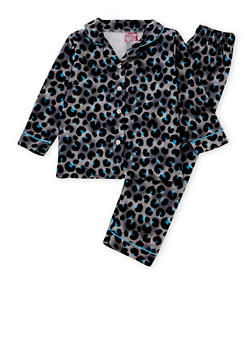 Girls 4-6x Printed Pajama Shirt and Pants Set - 6568054730302