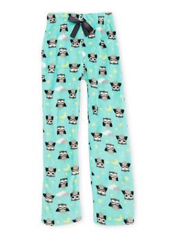Girls 7-16 Printed Pajama Pants in Fleece - 6568054730307