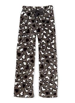 Girls 7-16 Printed Pajama Pants in Fleece - 6568054730309