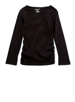 Girls 4-6x Top with Ruched Sides - 6603061950001