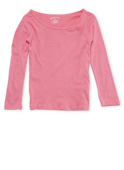 Girls 4-6x Pink Long Sleeve Shirt - 6603061950010