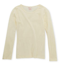 Girls 4-6x Crew Neck Top with Long Sleeves - 6603061950013