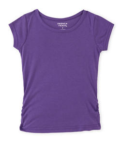 Girls 4-6x French Toast Tee with Ruched Sides - 6603068320033