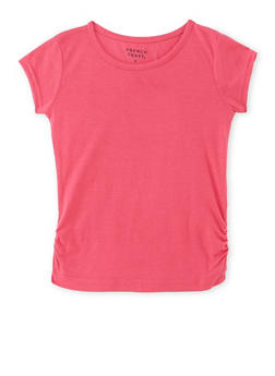Girls 4-6x French Toast Tee with Ruched Sides - 6603068320034