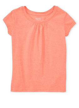 Girls 4-6x French Toast Coral Shirred T Shirt - 6603068320054