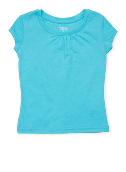 Girls 4-6x French Toast Turquoise Crew Neck T Shirt - 6603068320059