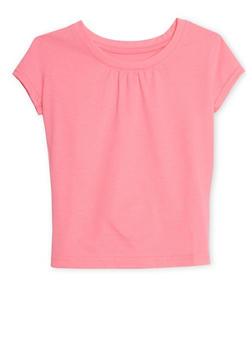 Girls 4-6X French Toast Short Sleeve Crew Neck T Shirt - 6603068320062