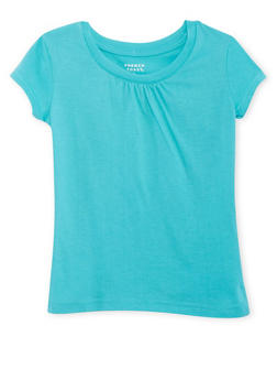 Girls 4-6x French Toast Shirred T Shirt - 6603068320066
