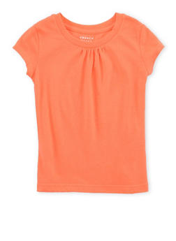 Girls 4-6x French Toast Orange Shirred T Shirt - 6603068320084
