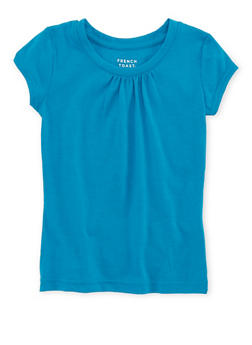 Girls 4-6x French Toast Blue Shirred T Shirt - 6603068320089