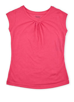 Girls 7-16 French Toast Short Sleeve V Neck Top - 6604068320030