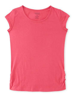 Girls 7-16 French Toast Tee with Ruched Sides - 6604068320037