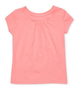 Girls 7-16 French Toast Coral Crew Neck T Shirt - 6604068320057