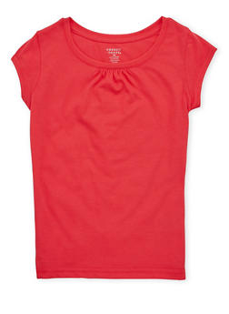 Girls 7-16 French Toast Coral Crew Neck T Shirt - 6604068320061