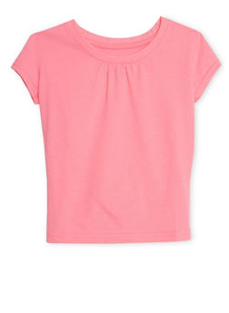 Girls 7-16 French Toast Crew Neck Short Sleeve Top - 6604068320067