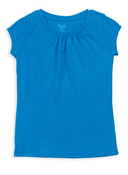 Girls 7-16 French Toast Blue Shirred T Shirt - 6604068320094