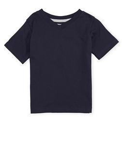Boys 4-7 French Toast V Neck Tee - 6703068320022