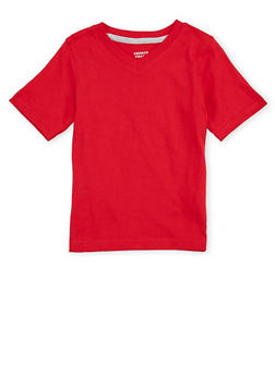 Boys 4-7 French Toast Short Sleeve V Neck Tee - 6703068320024