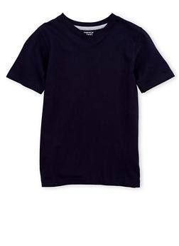 Boys 8-16 French Toast Short Sleeve V Neck Tee - 6704068320022