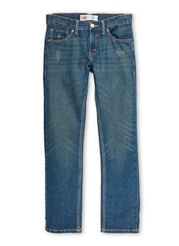 Boys 8-20 Levis Slim Fit Jeans with Whisker Wash - 6730070340013