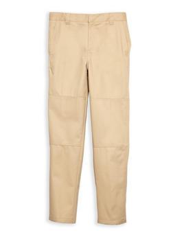 Boys 8-14 Adjustable Waist Pants School Uniform - 6865008930038